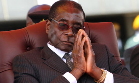 Zimbabwean President Robert Mugabe at National Heroes Acre in Harare
