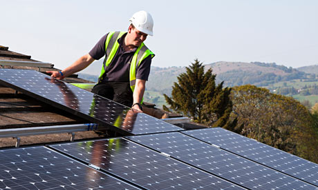 Fitting solar pv panels to house