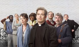 Olivia Colman, Tom Hollander and the cast of Rev