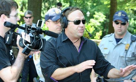 Billderberg 2012 protest Alex Jones