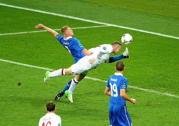 sport4: Soccer - UEFA Euro 2012 - Quarter Final - England v Italy - Olympic Stadium