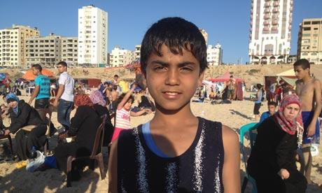 The beach in Gaza.