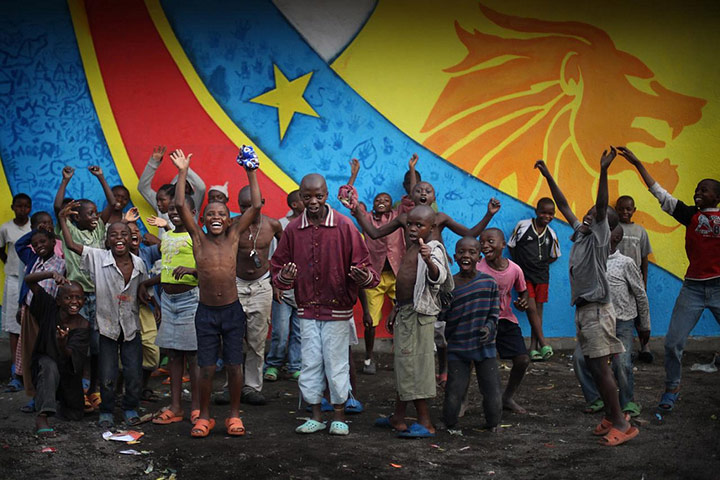 War Child: Mural painting project with local street children in Goma, DRC