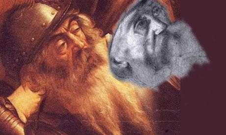 Alleged Caravaggio sketch next to original