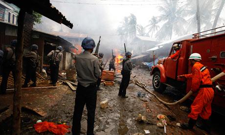 Sectarian violence in Sittwe in Myanmar