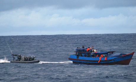 Australian navy rescue a vessel carrying asylum seekers