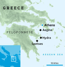 Location of Spetses in Greece