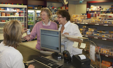dementia residents in shop
