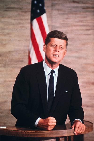 10 best: Senator John F. Kennedy Speaking at Podium