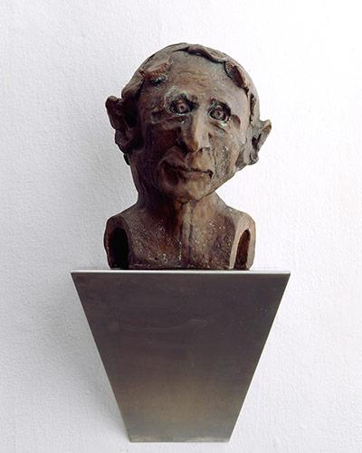 Thomas Schutte: Wicht 2006, Bronze, steel