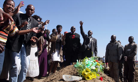 South Africa funeral miners strike