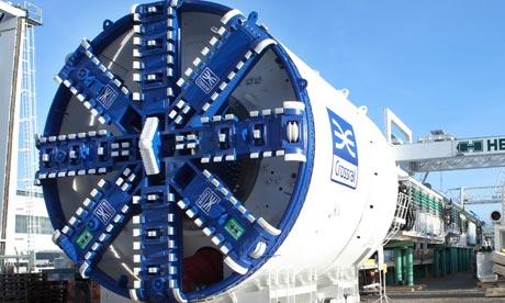 Crossrail tunneling machine