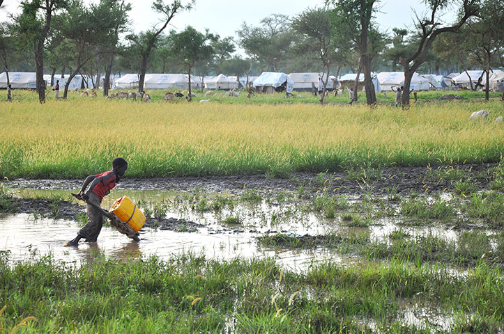 Jamam refugee camp: Heavy rains in South Sudan