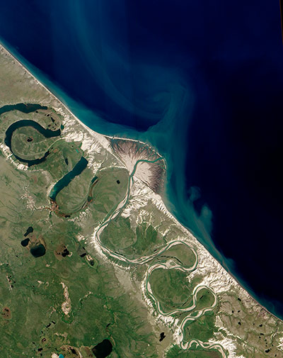Satellite Eye: Horton River Delta, Arctic Canada