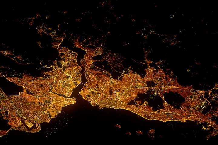 Satellite Eye: Istanbul at Night