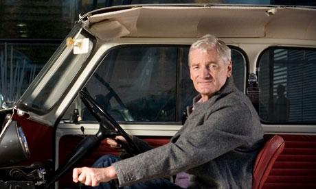 Sir James Dyson sitting in Mini car exhibit