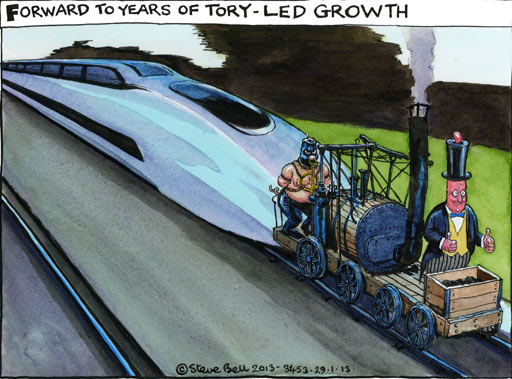 29.01.13: Steve Bell on the HS2 railway