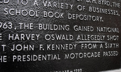 A plaque on the Dallas county administration building in signifies the site where Lee Harvey Oswald shot President John F Kennedy from a sixth-floor window.