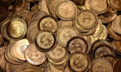 A pile of Bitcoin medals.