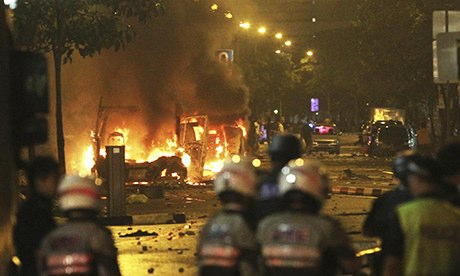 Riot breaks out in Singapore after Bangladeshi worker is killed by bus