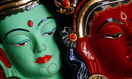Nepal, Kathmandu, Buddhist masks
