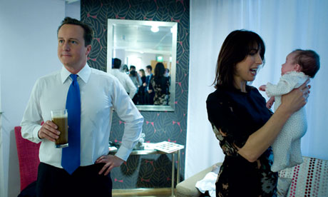 David, Samantha and Florence Cameron, captured by the PM's personal photographer Andrew Parsons