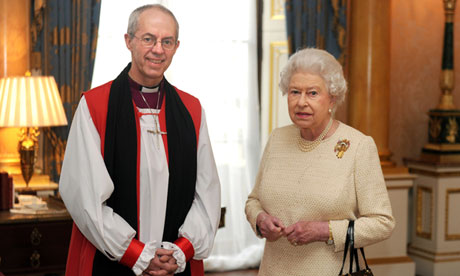 Justin Welby meets Queen on his first day in office
