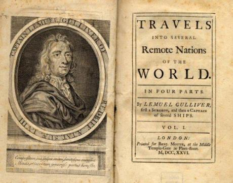Title page of Swift's Gulliver's Travels