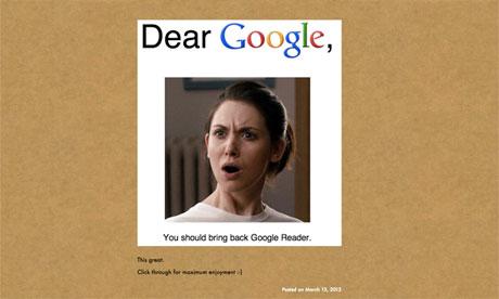 Screengrab from saveGoogleReader