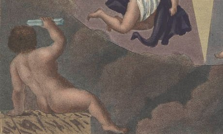 Putto holding a prism