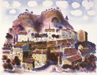 La Roque Alric, Provence, a 1996 lithograph by Bernard Cheese
