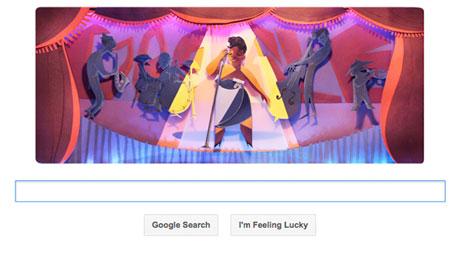 Ella Fitzgerald Google doodle