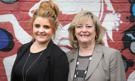 Paris Brown (left), the UK's first youth PCC, and Kent Police and Crime Commissioner Ann Barnes