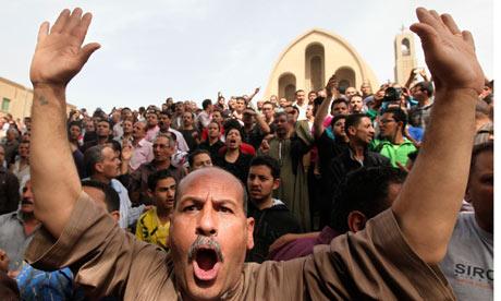Egypt funeral Coptic Christians