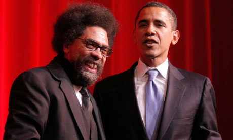 Cornel West with Barack Obama in 2007