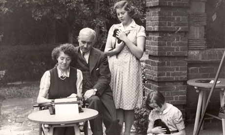 Enid Blyton and family