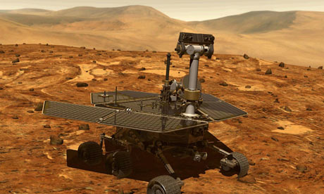 Artist's impression of the Spirit rover on Mars