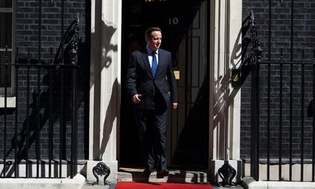 David Cameron at No 10 Downing Street