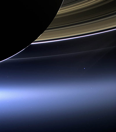 A Month in Space: Cassini's Pale Blue Dot