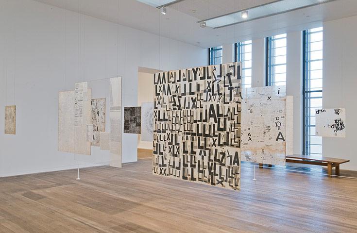 Mira Schendel 2: Mira Schendel installation shot