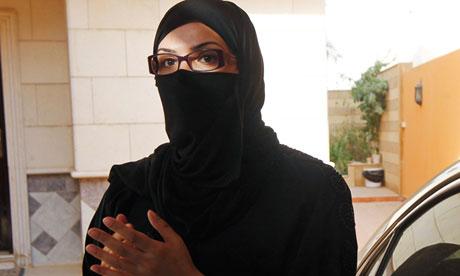 Female Saudi motorist