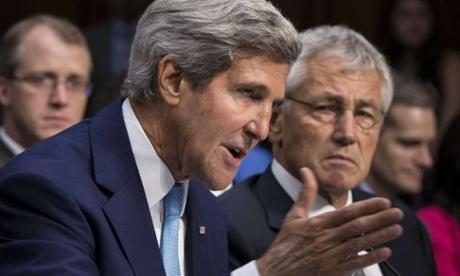 John Kerry and Chuck Hagel