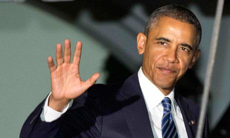 Barack Obama departs for Sweden