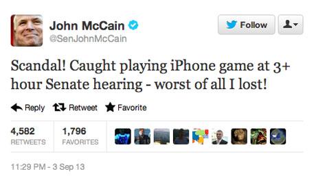 John McCain tweet