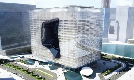 Ice cube chic … Zaha Hadid's design for the Opus Office Tower in Dubai.