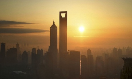 Mordor awaits … Shanghai's World Financial Centre has a hole cut out to reduce wind loading.
