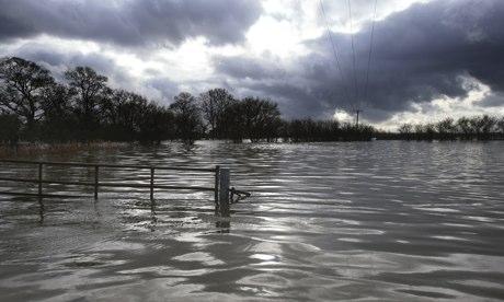 Flooding in the village of Muchelney