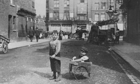 Jewish migrants from eastern Europe in the East End of London.
