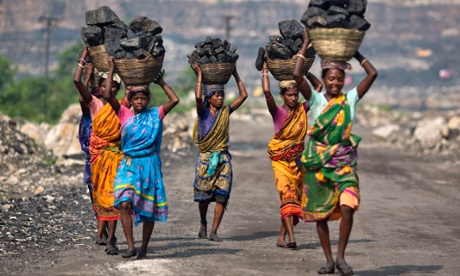 Local women carry coal taken in the eastern Indian state of Jharkhand.