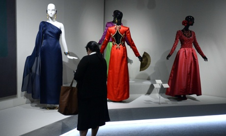 A woman looks at creations displayed at the exhibition, running from 22 October to 18 January.